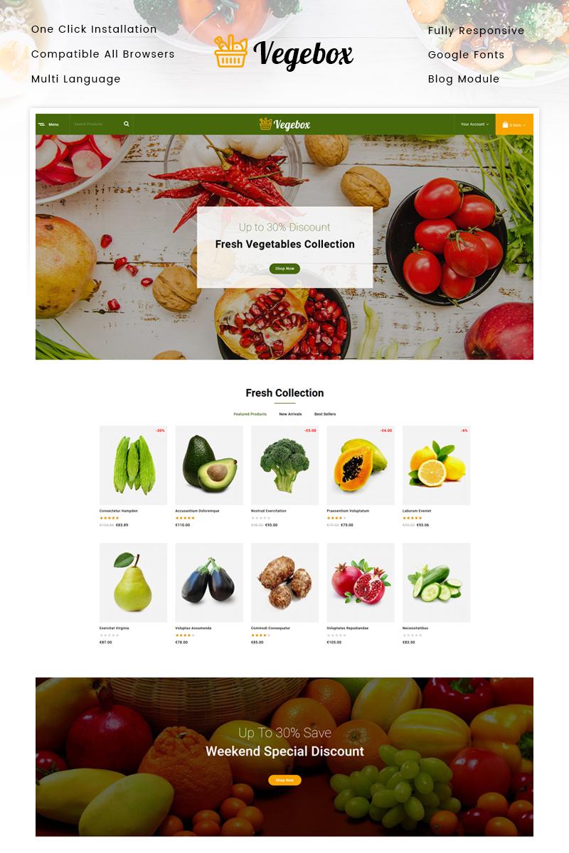 """Tema De PrestaShop """"Vegebox - Vegetables Store"""" #95163"""