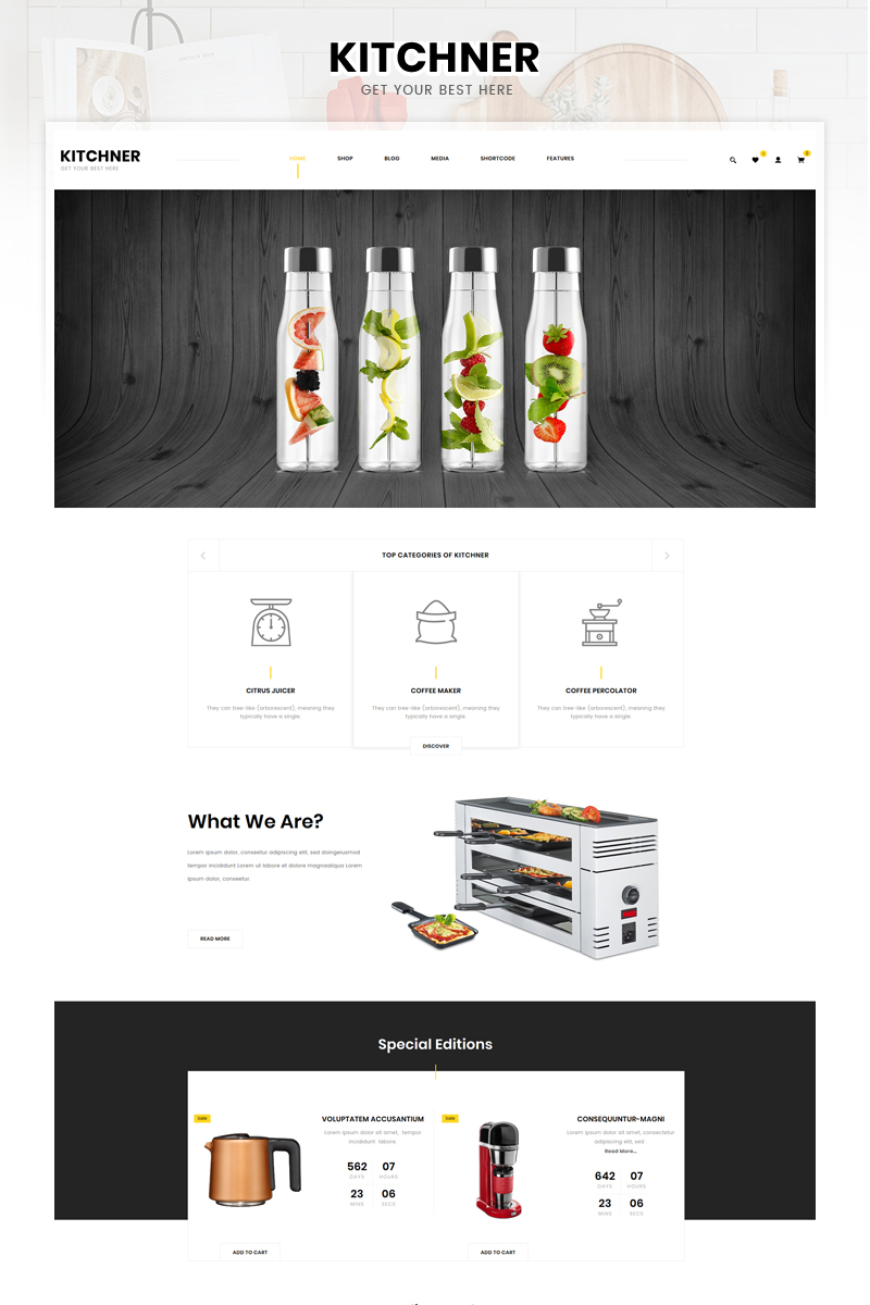 "WooCommerce Theme namens ""Kitchner - Kitchen Store"" #95164"