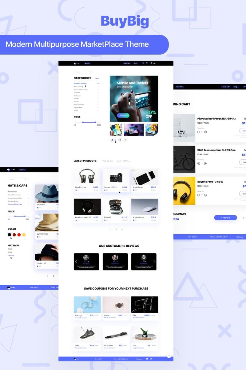 BuyBig | MarketPlace PSD Template - screenshot