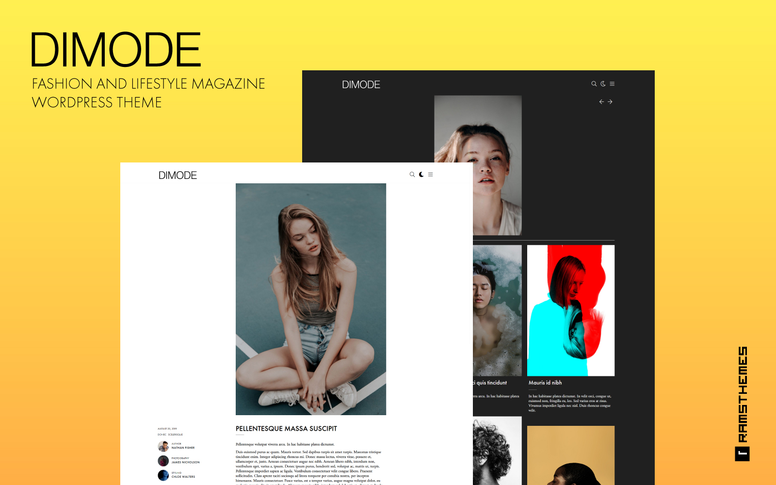 DIMODE - Fashion and Lifestyle Trends Magazine WordPress Theme