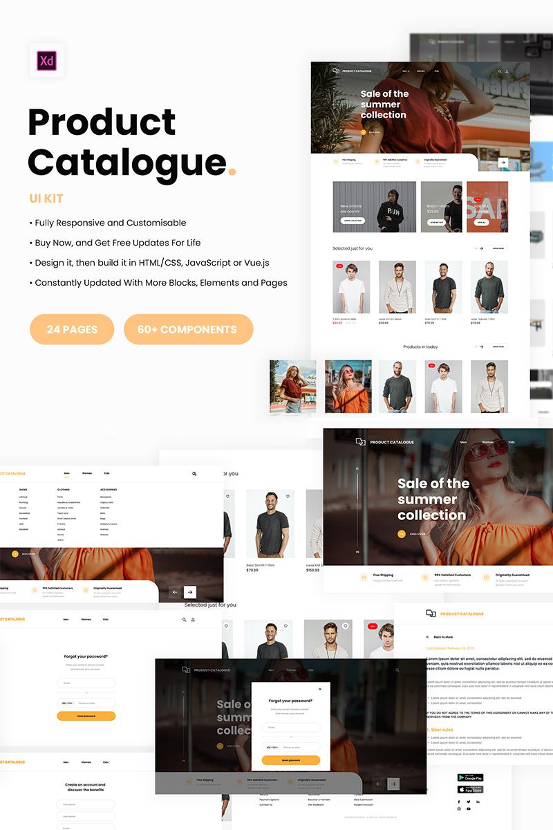 E-commerce catalogue UI Kit UI Elements - screenshot