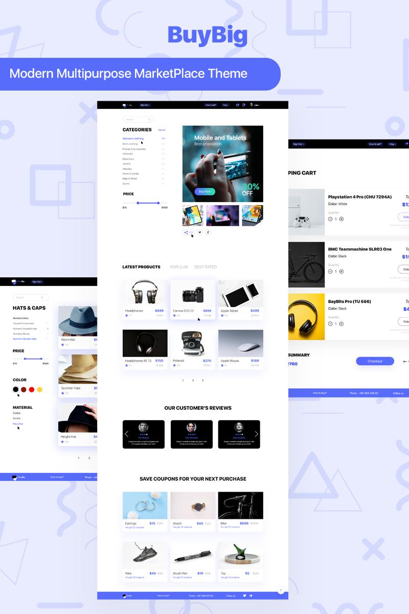 Responsivt BuyBig | MarketPlace PSD-mall #95279
