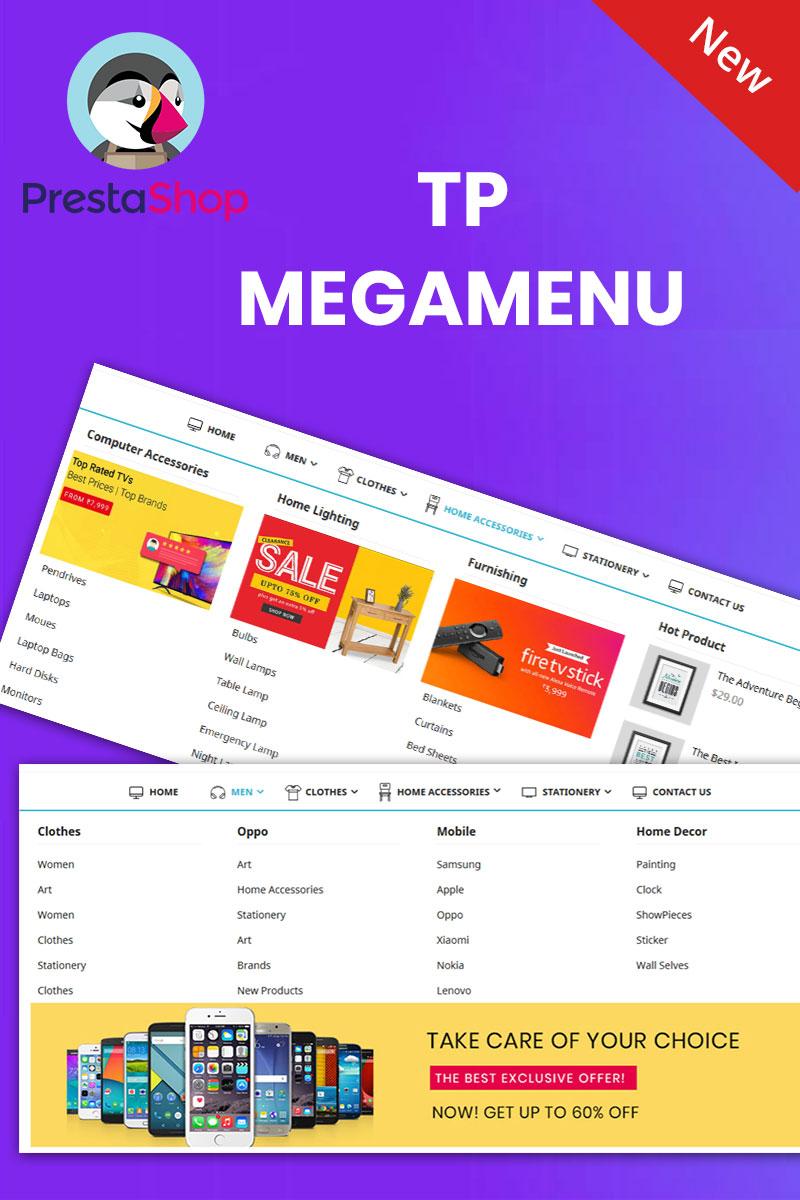 Reszponzív TP Megamenu PrestaShop kiterjesztés 95293