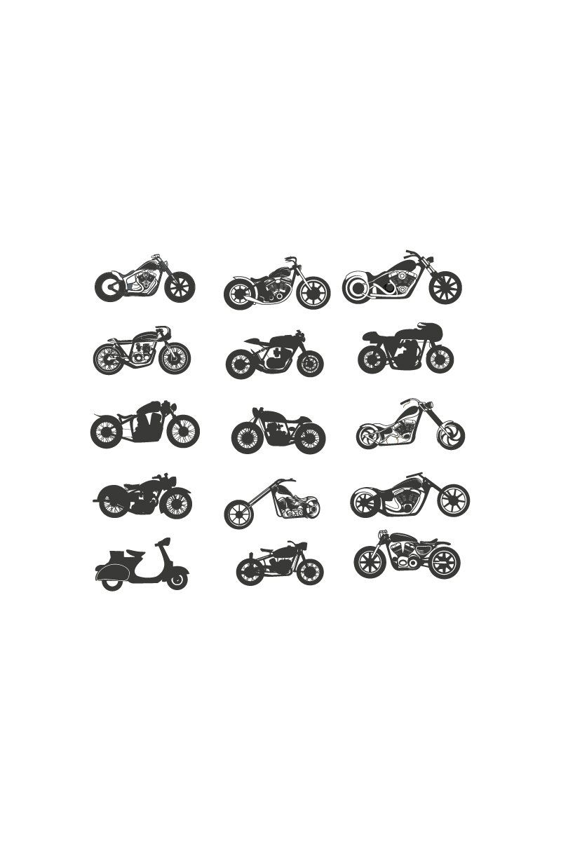 Set Motorcycle Logo Template - screenshot