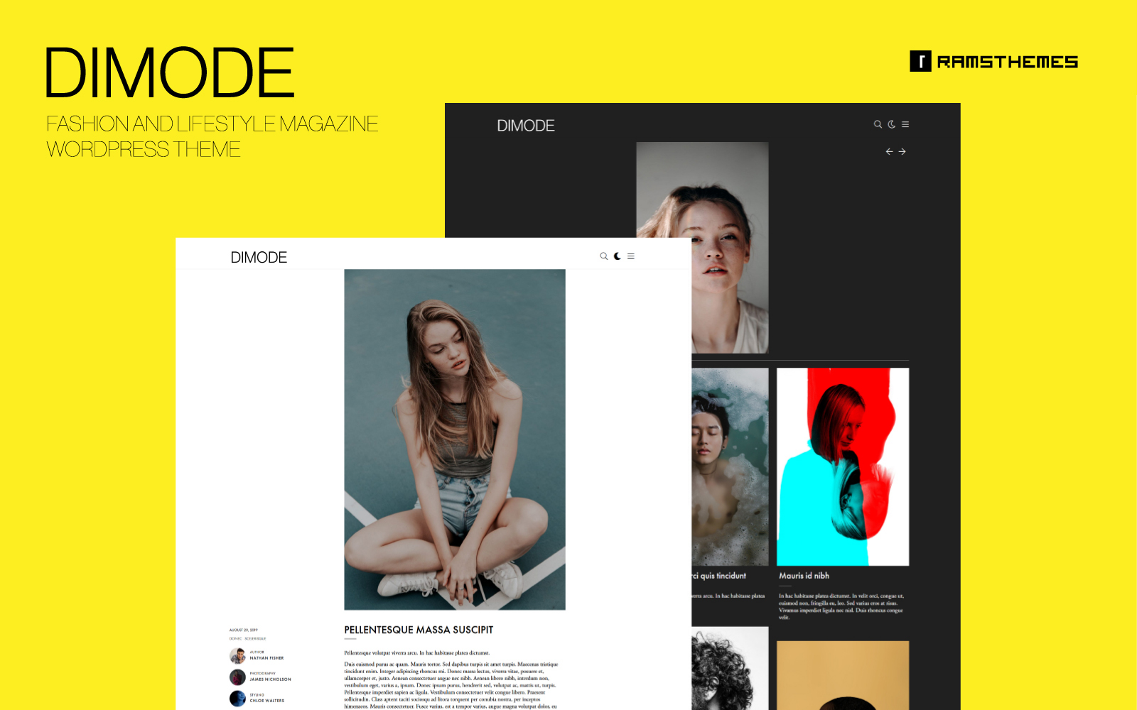 "WordPress Theme namens ""DIMODE - Fashion and Lifestyle Trends Magazine"" #95292"