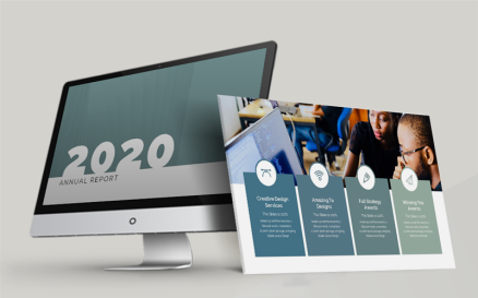 Annul Report-2020 PowerPoint Template