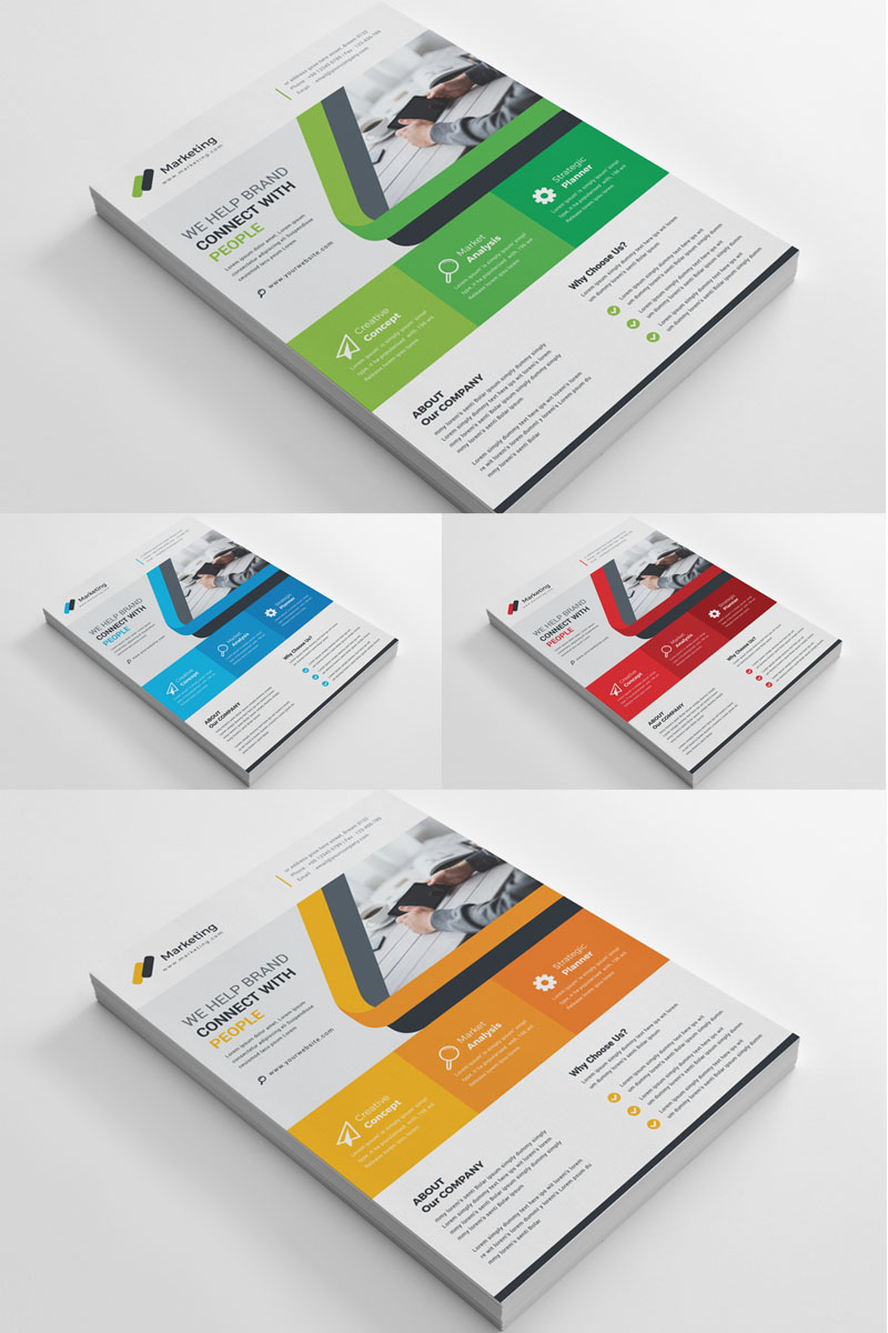 Orange Color Flyer Corporate Identity Template - screenshot