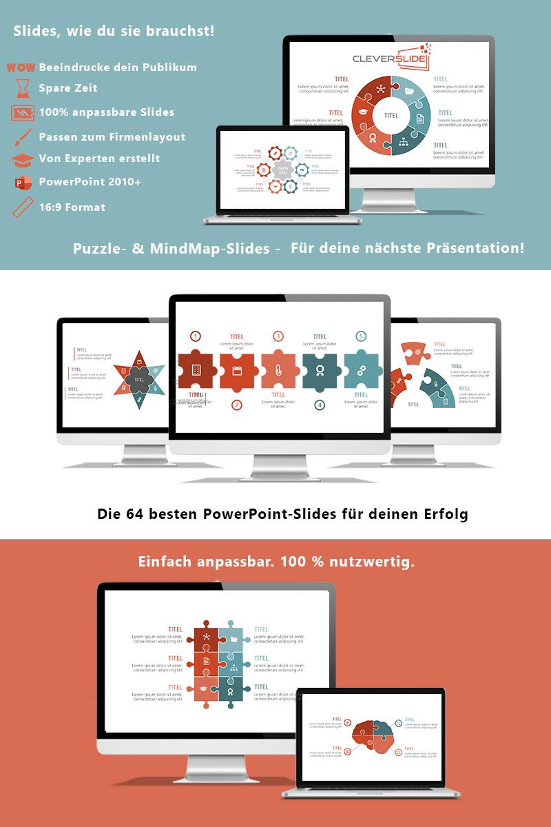 Puzzle & MindMap-Slides PowerPoint sablon 95337
