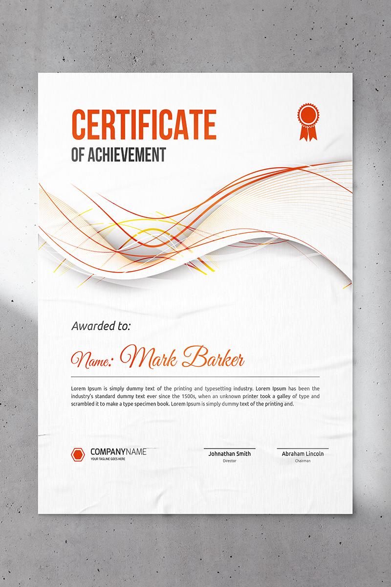 Wavy Abstract Certificate Template - screenshot