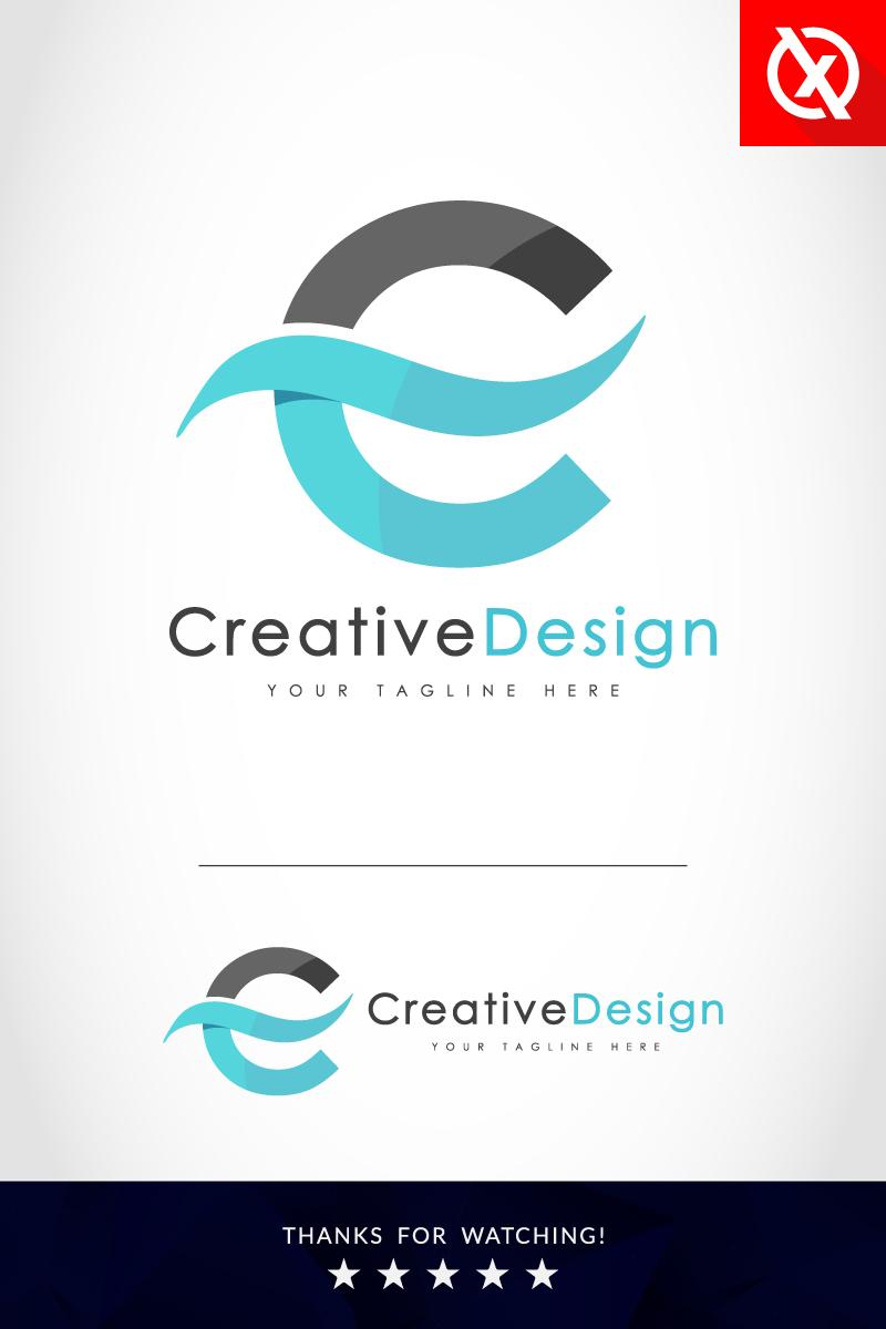 Creative C Letter Blue Wave Logo Template - screenshot