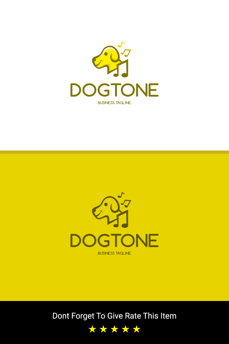 Dog Music Logo Template - screenshot