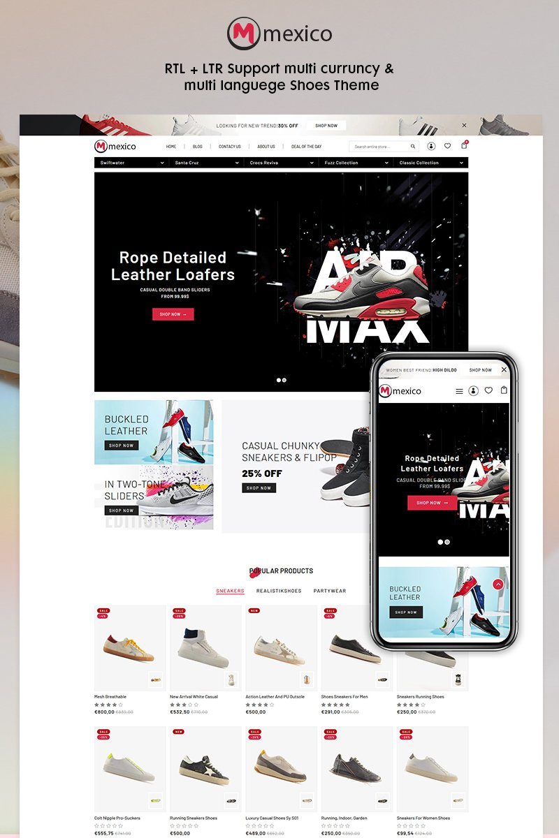 Maxico - The Shoes& Fashion Premium Shopify Theme