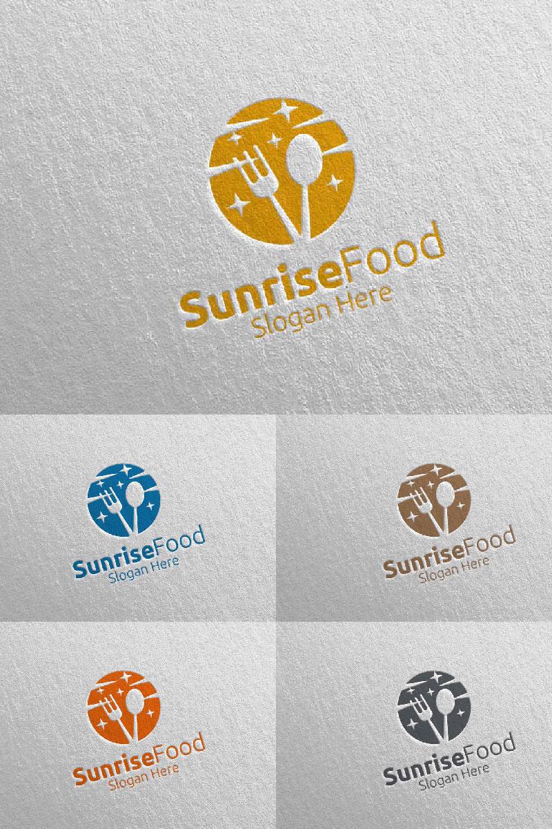 Sunrise Food for Restaurant or Cafe 57 Logo Template - screenshot