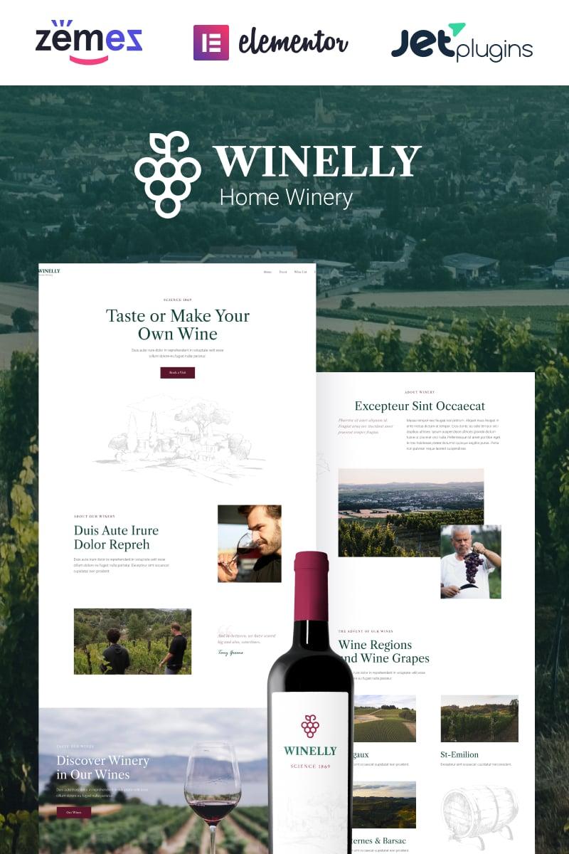 Winelly - Wine Tasting Theme with WordPress Elementor Theme WordPress Theme