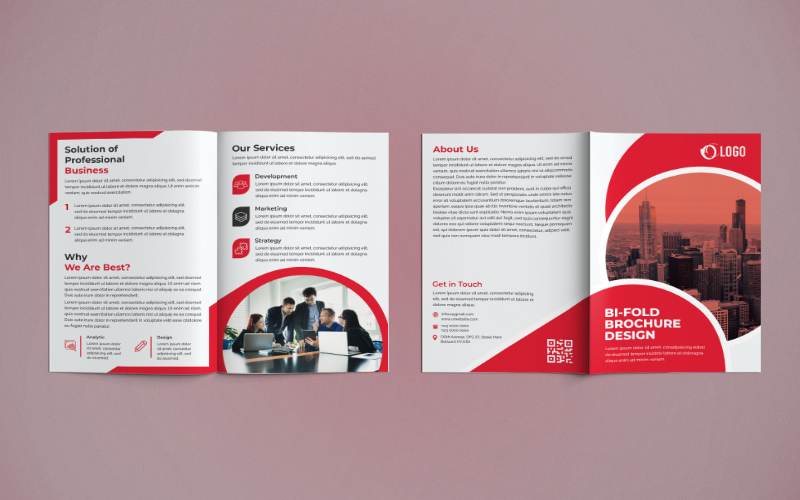 Bifold Brochure Design Corporate Identity Template
