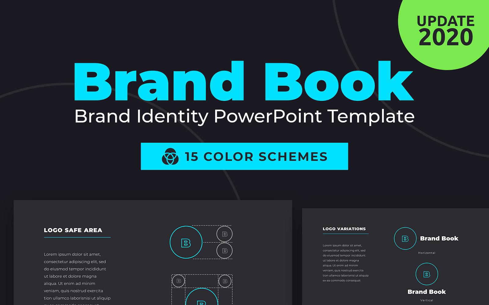 """BrandBook Brand Identity"" - PowerPoint шаблон №95509"