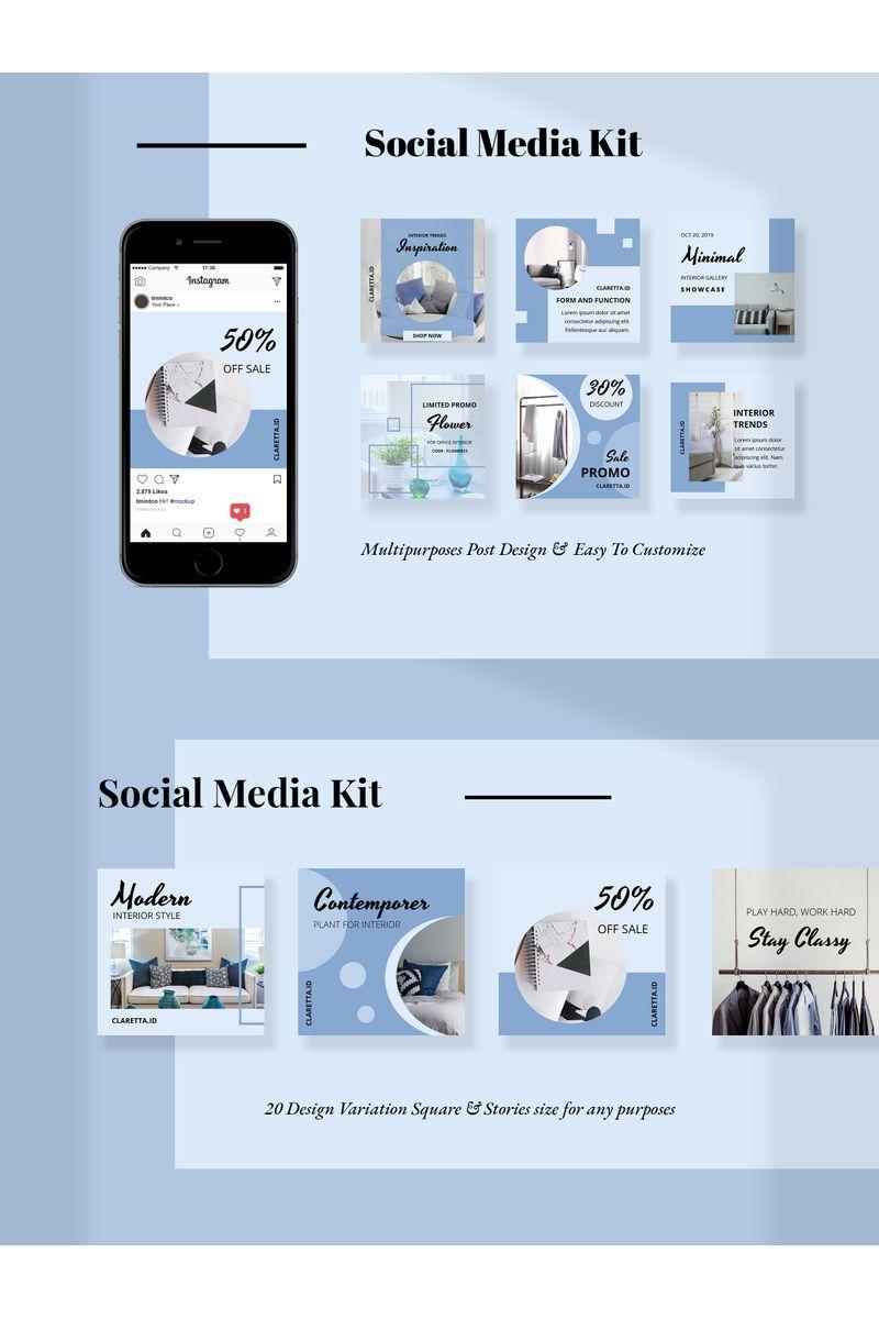Claretta  -  Kit Social Media - screenshot