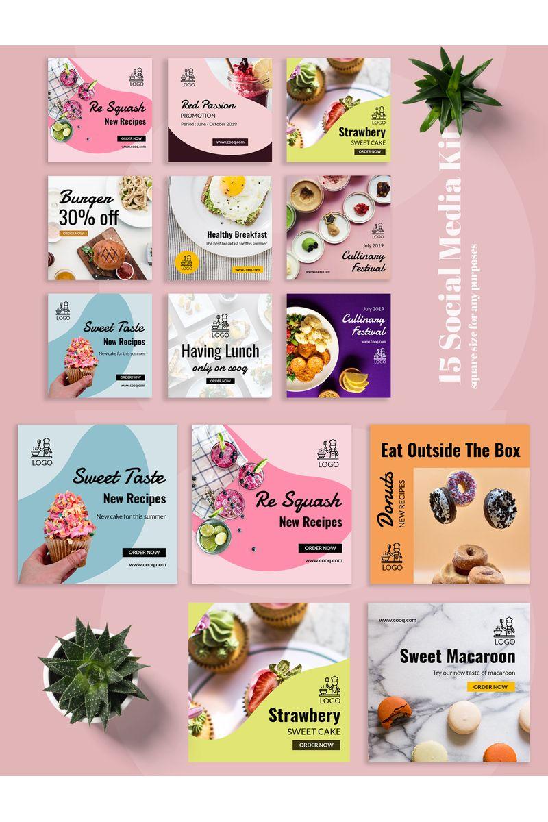 Cooq  - Food Instagram  Post Social Media - screenshot