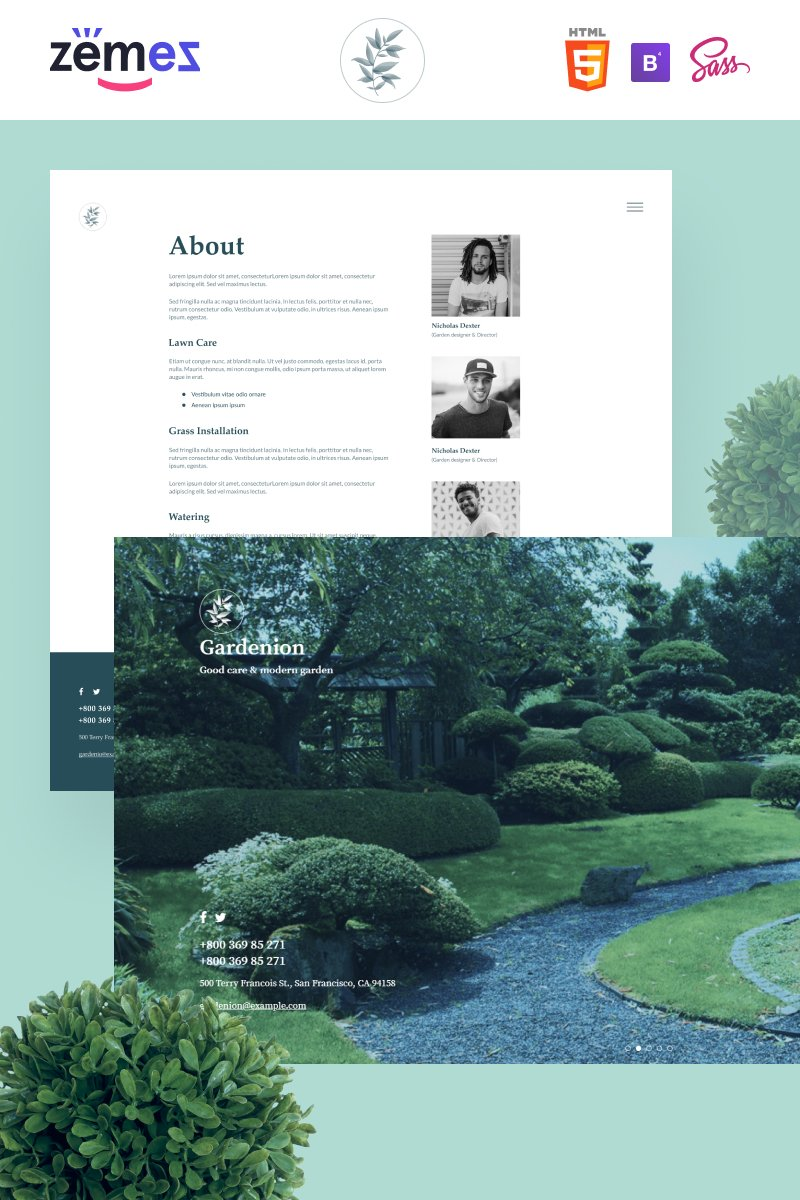 Gardenion - Landscape and Garden Design Website Template
