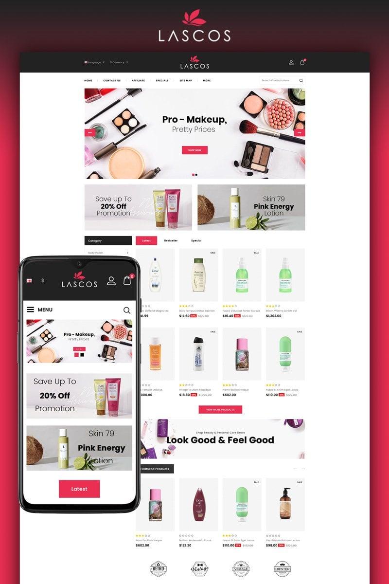 """Lascos - Beauty Store"" thème OpenCart  #95503 - screenshot"