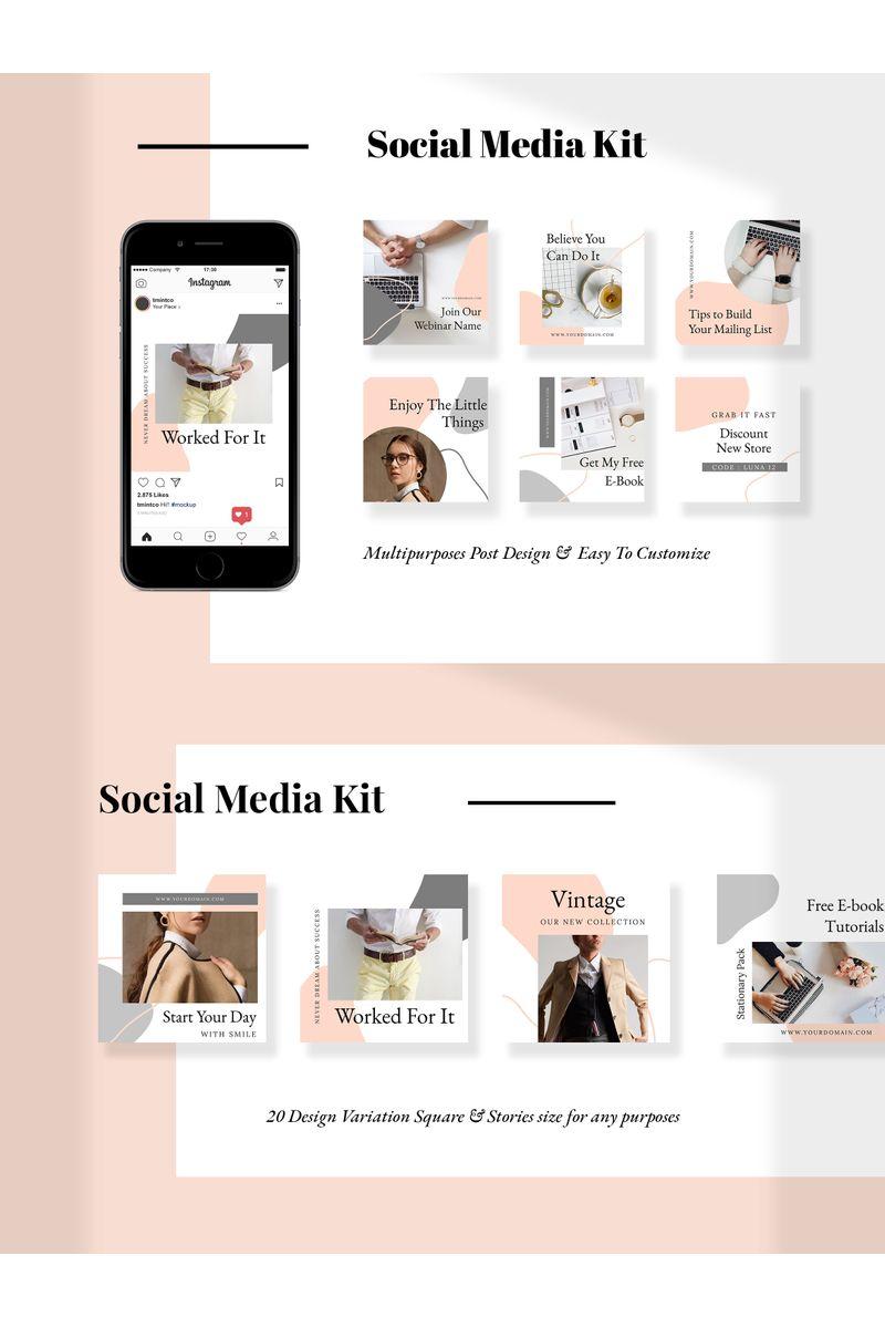 Luna  -  Kit Social Media - screenshot