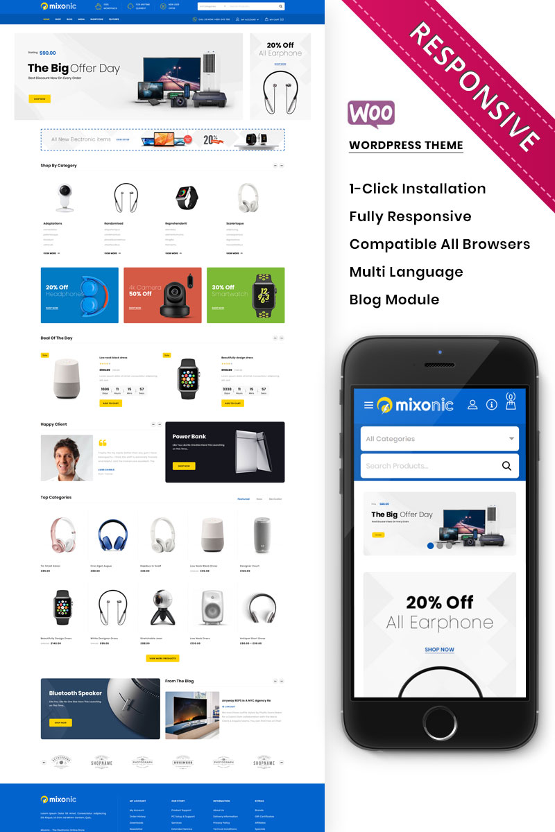 Mixonic - The Electronic Store WooCommerce Theme
