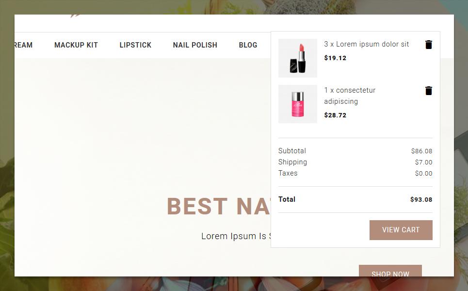 Parlop Cosmetics Store PrestaShop Theme - screenshot