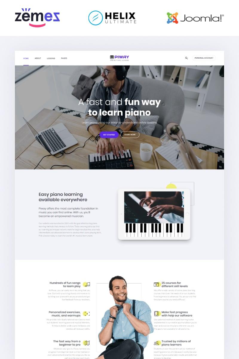 """Piway - Music Multipage Creative"" thème Joomla adaptatif #95533"