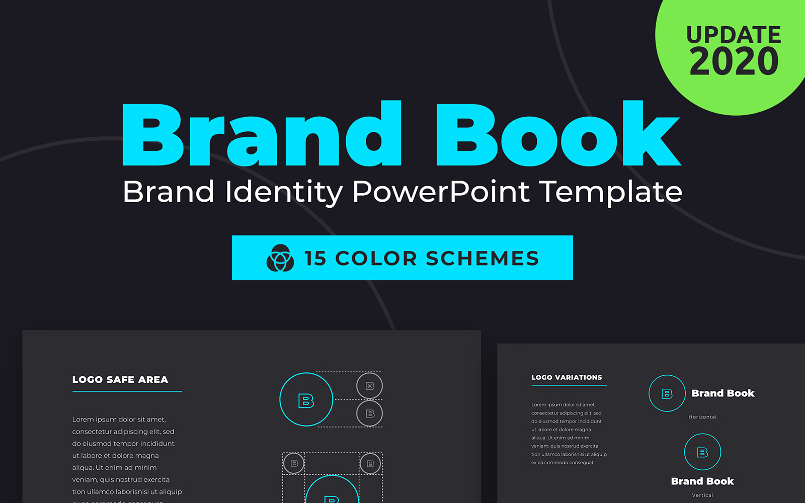 "Plantilla PowerPoint ""BrandBook Brand Identity"" #95509"