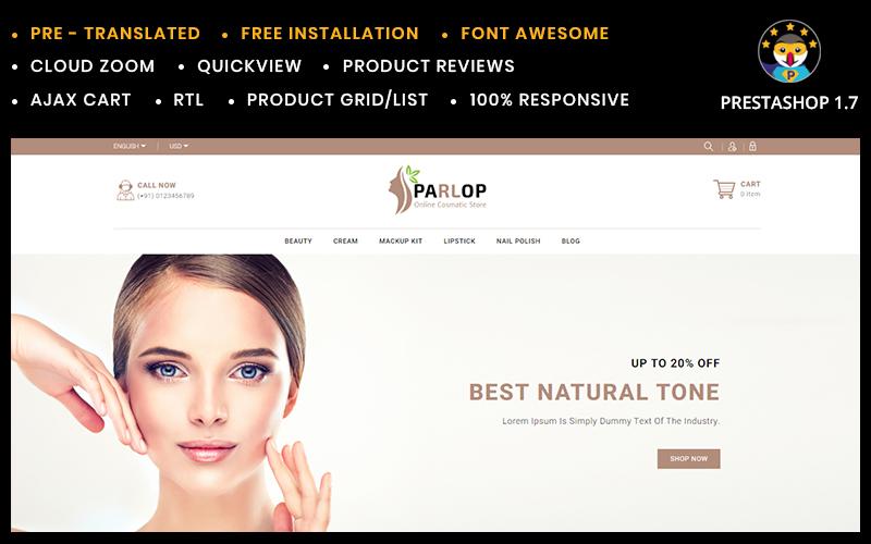 Reszponzív Parlop Cosmetics Store PrestaShop sablon 95504