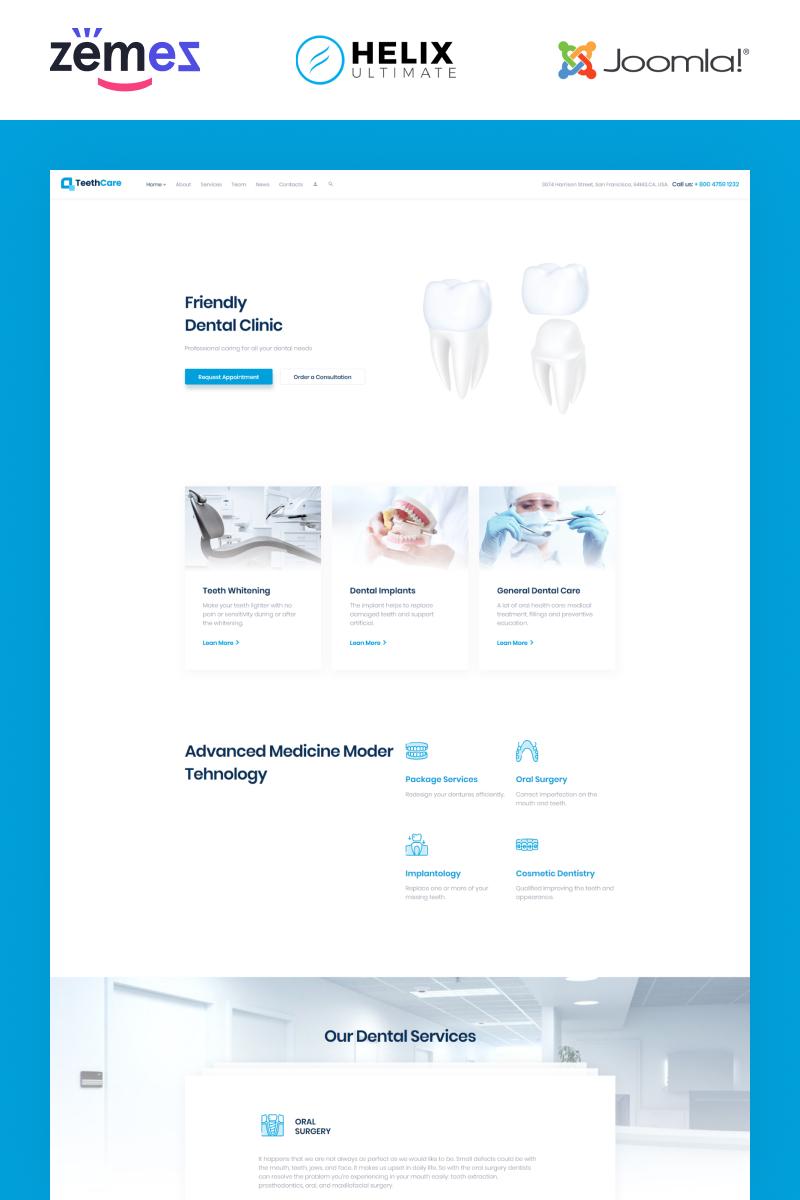Reszponzív TeethCare - Dental Responsive Clean Joomla sablon 95586