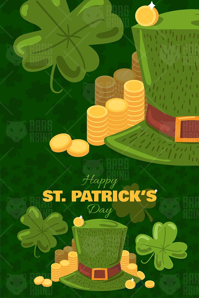 St. Patrick's Day Greeting Banner Illustration - screenshot