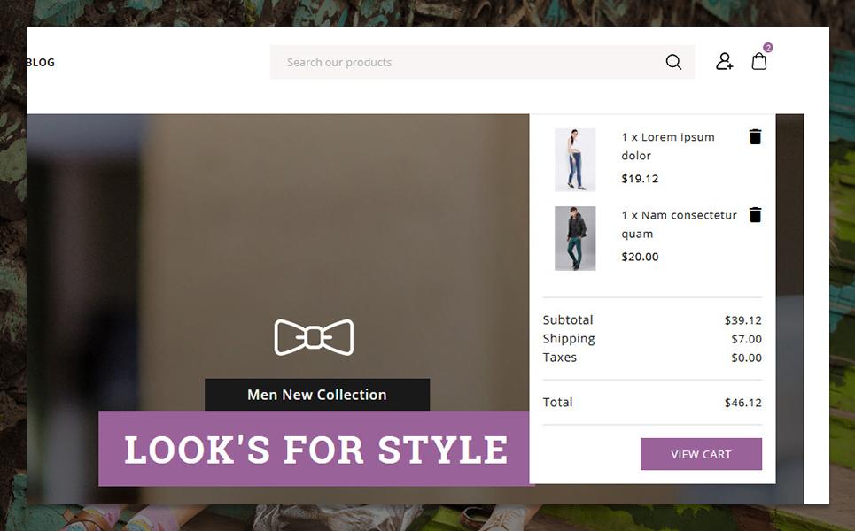 "Tema PrestaShop Responsive #95556 ""F-style Fashion Shop"""