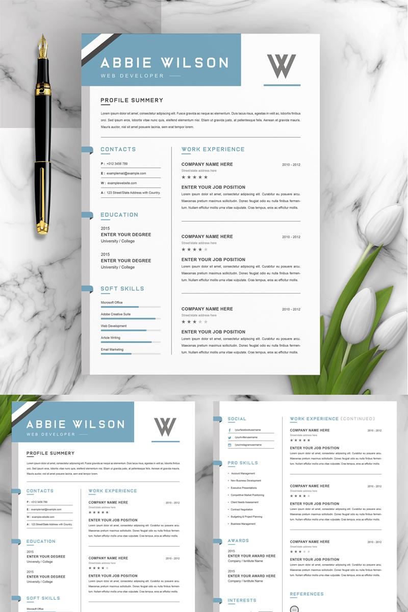 Abbie Resume Template - screenshot