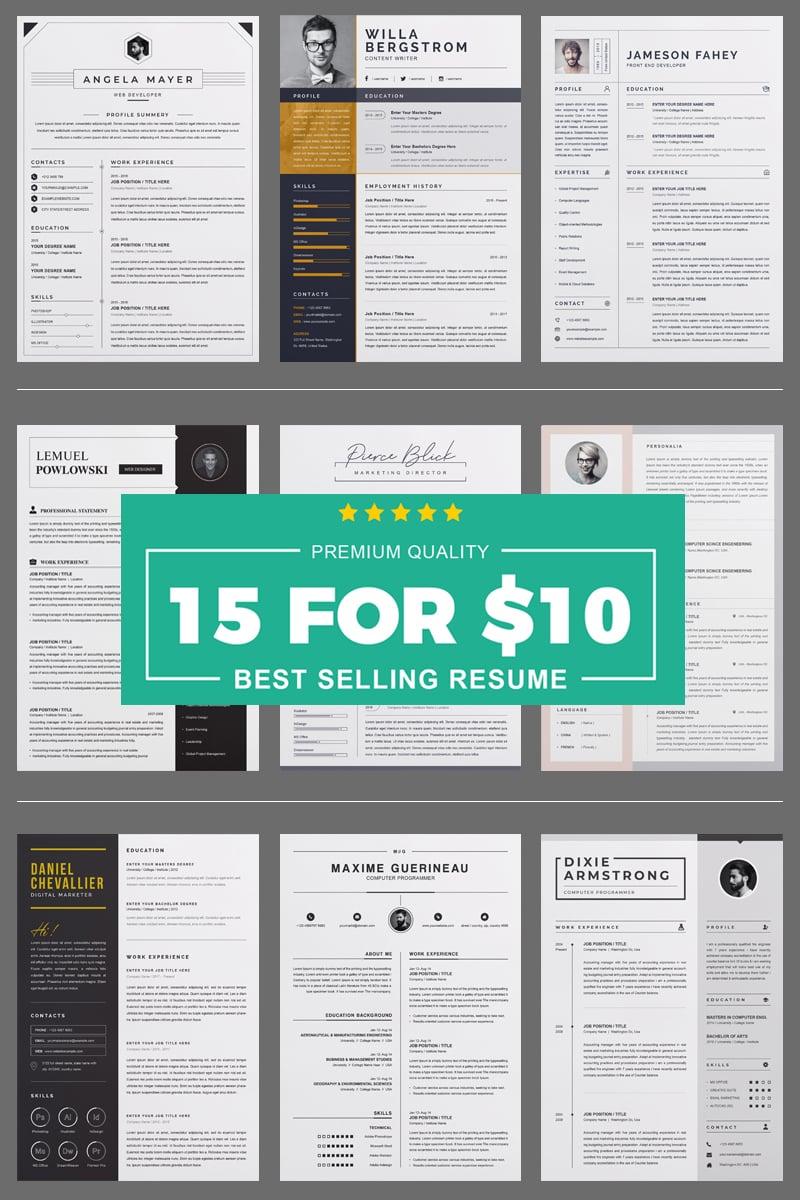 Bundle Resume Template - screenshot