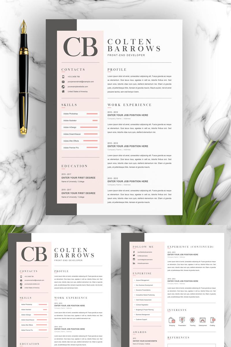 Colten Resume Template - screenshot
