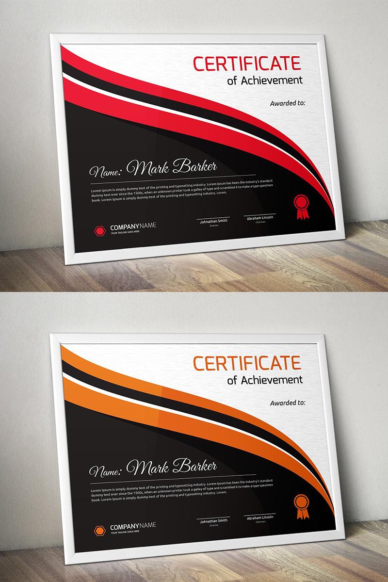 Curvy Dark Background Certificate Template - screenshot