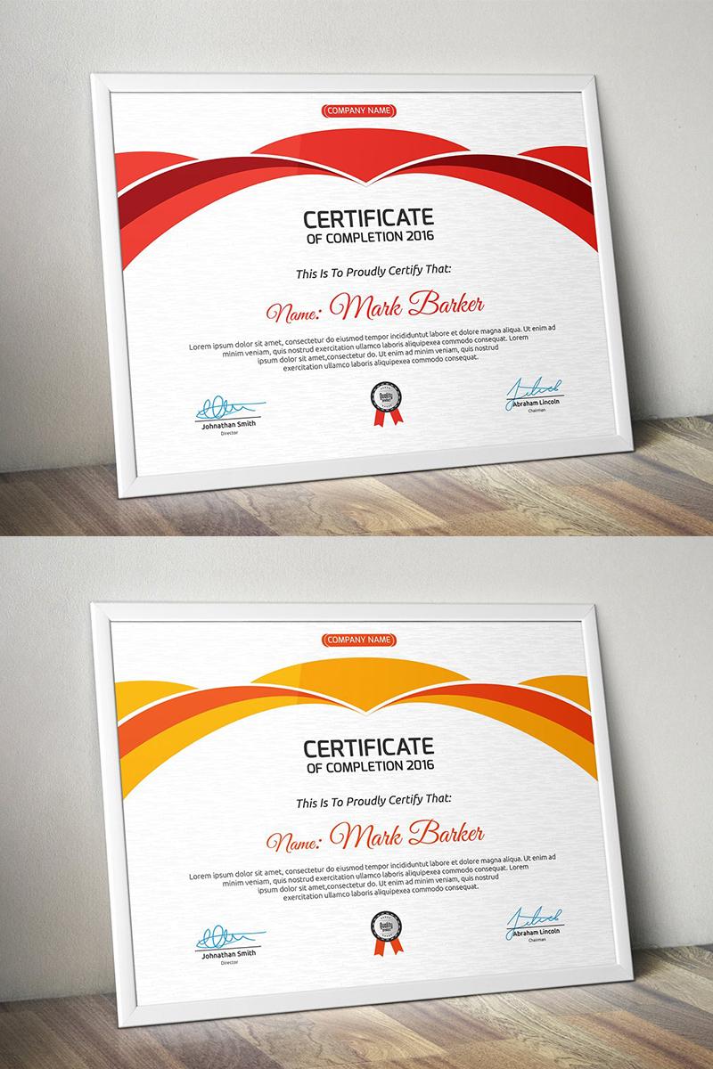 Curvy Modern Certificate Template