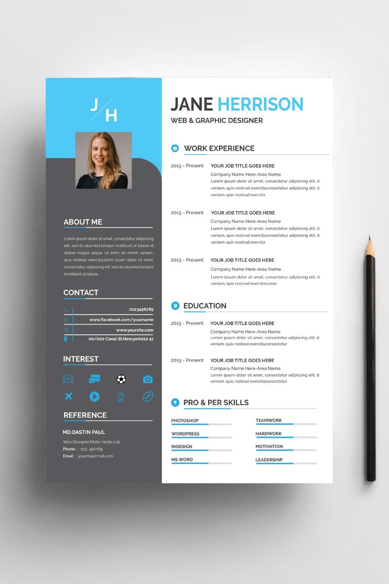 "Lebenslauf-Vorlage namens ""Jane Professional CV"" #95671"