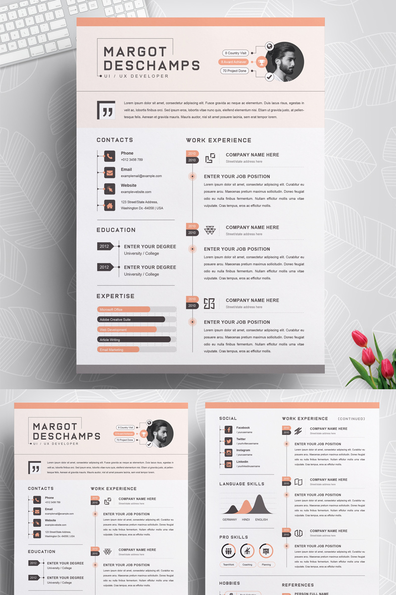 Margot Resume Template - screenshot