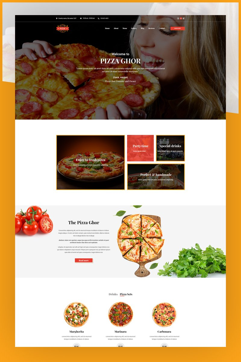PizzaGhor | Landing page PSD-mall #95644