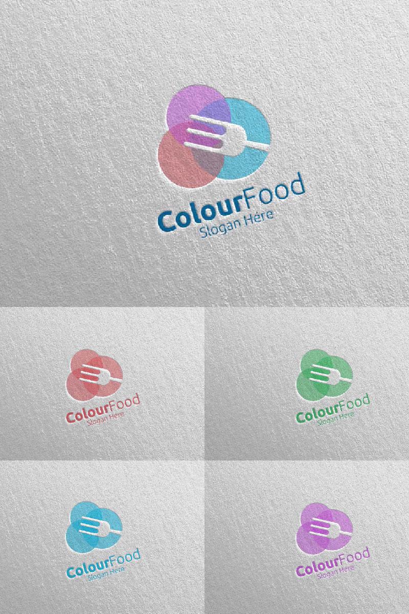 Color Food for  Restaurant or Cafe 67 Logo Template - screenshot