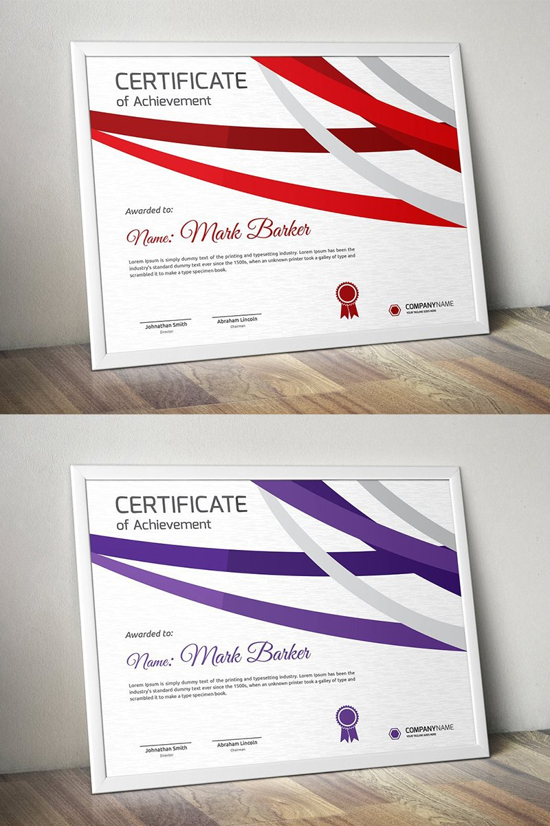 Curvy Stripes Certificate Template - screenshot
