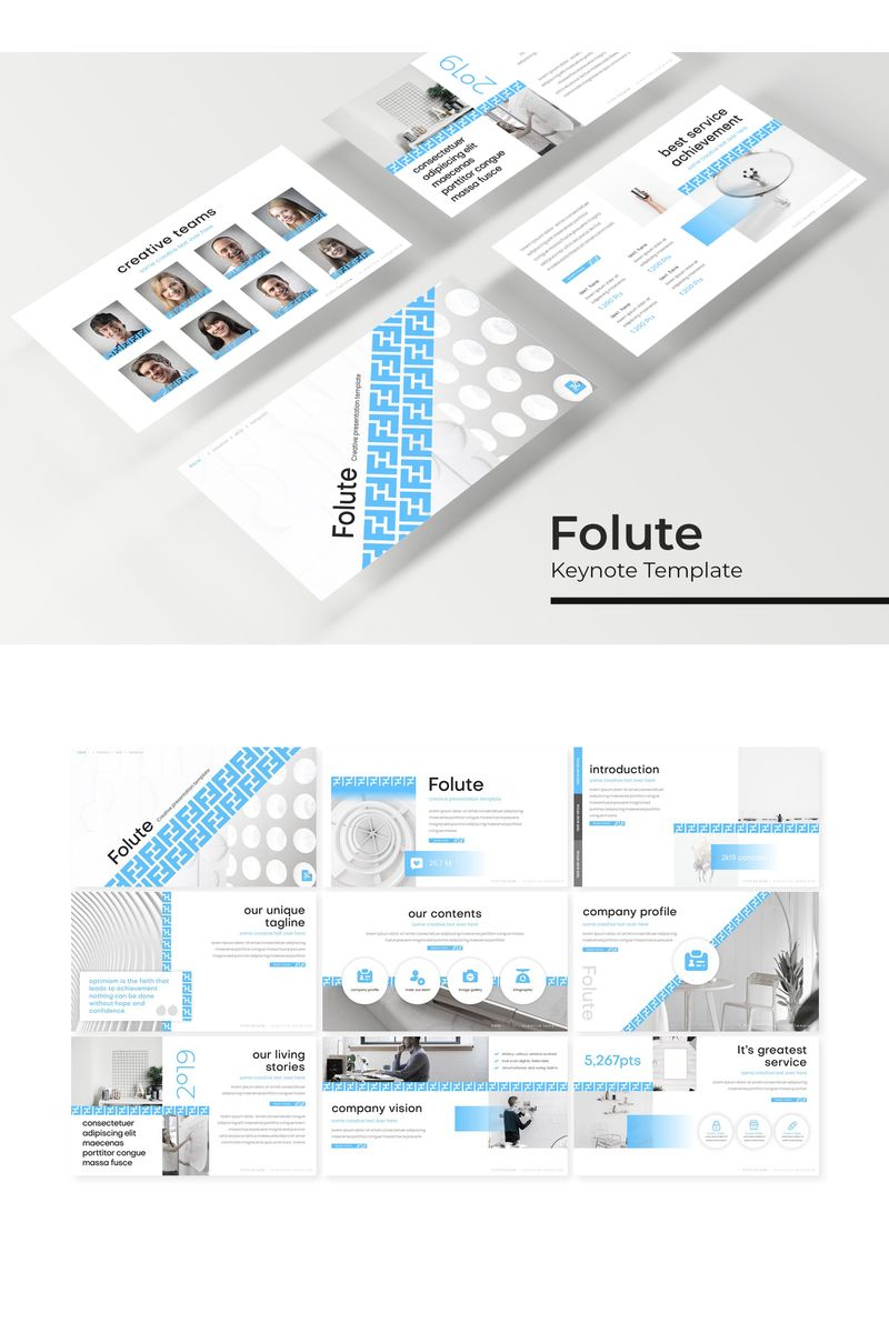 Folute Keynote Template - screenshot