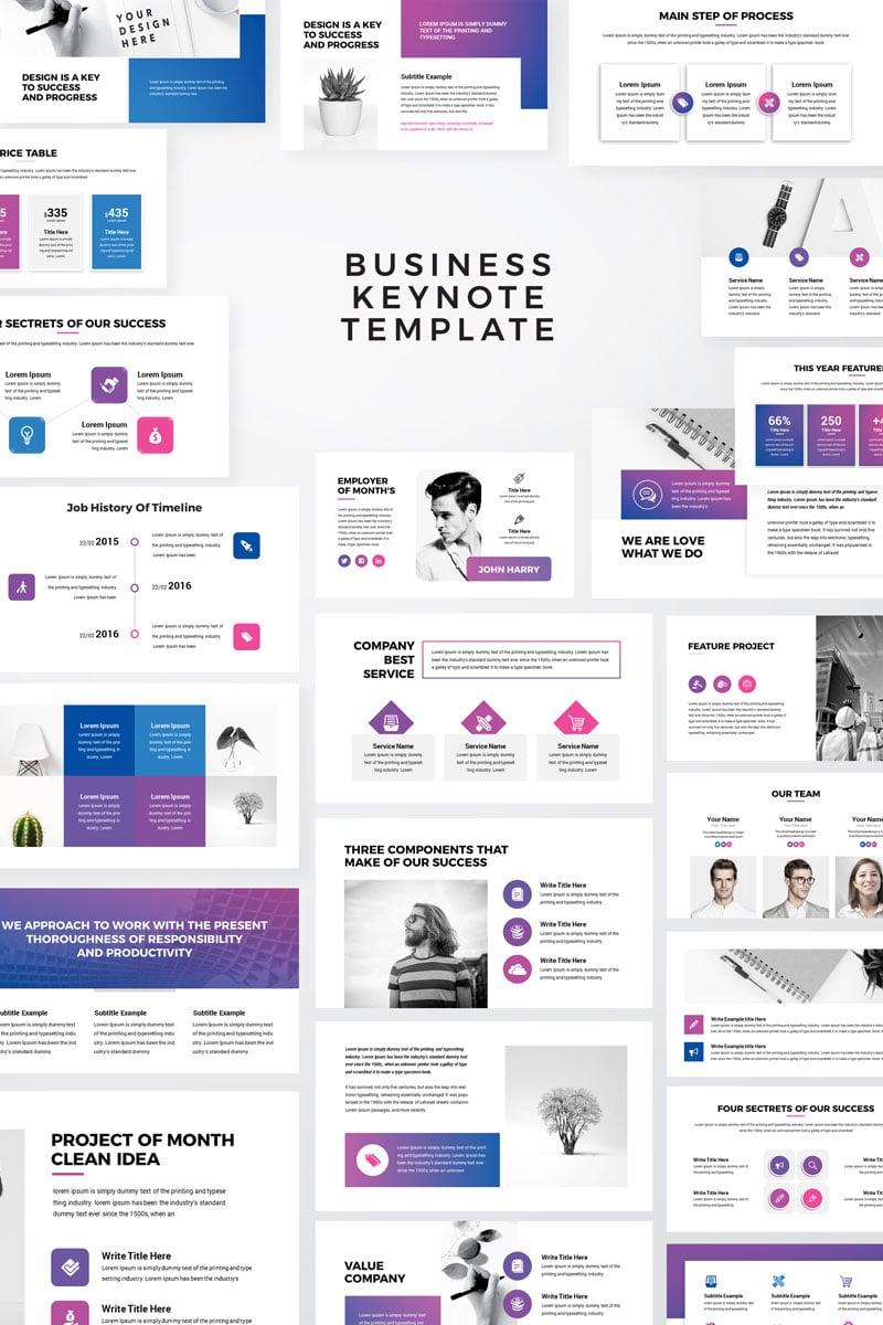 Macro - Modern Business Presentation Keynote Template - screenshot