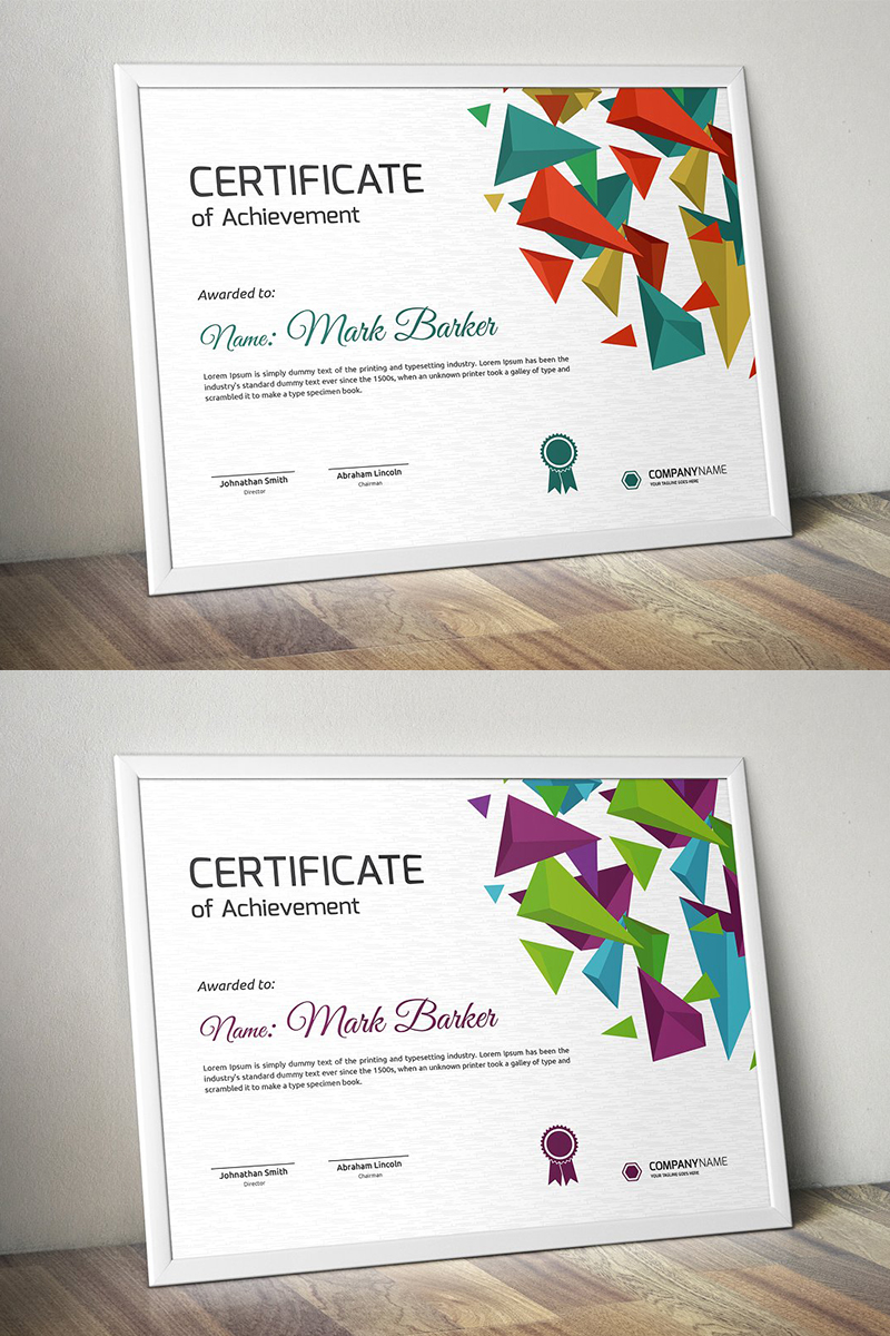 Polygonal Bursts Certificate Template