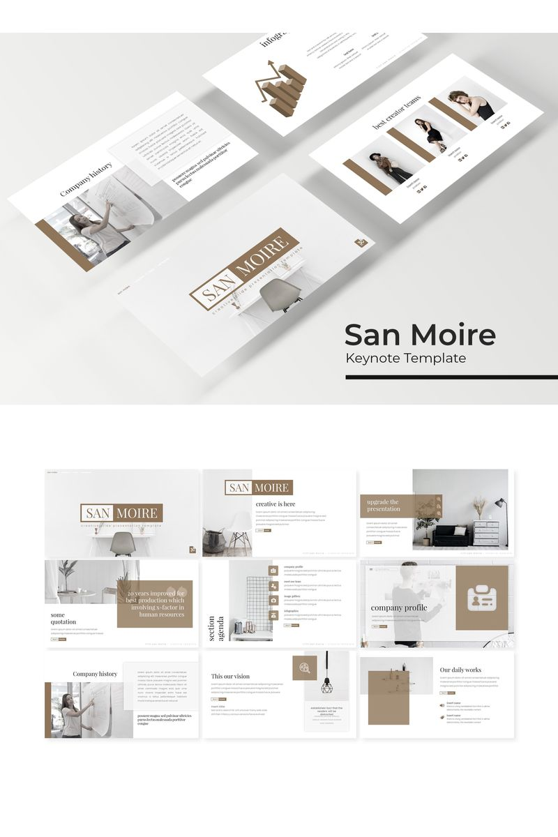 San Moire Keynote Template - screenshot