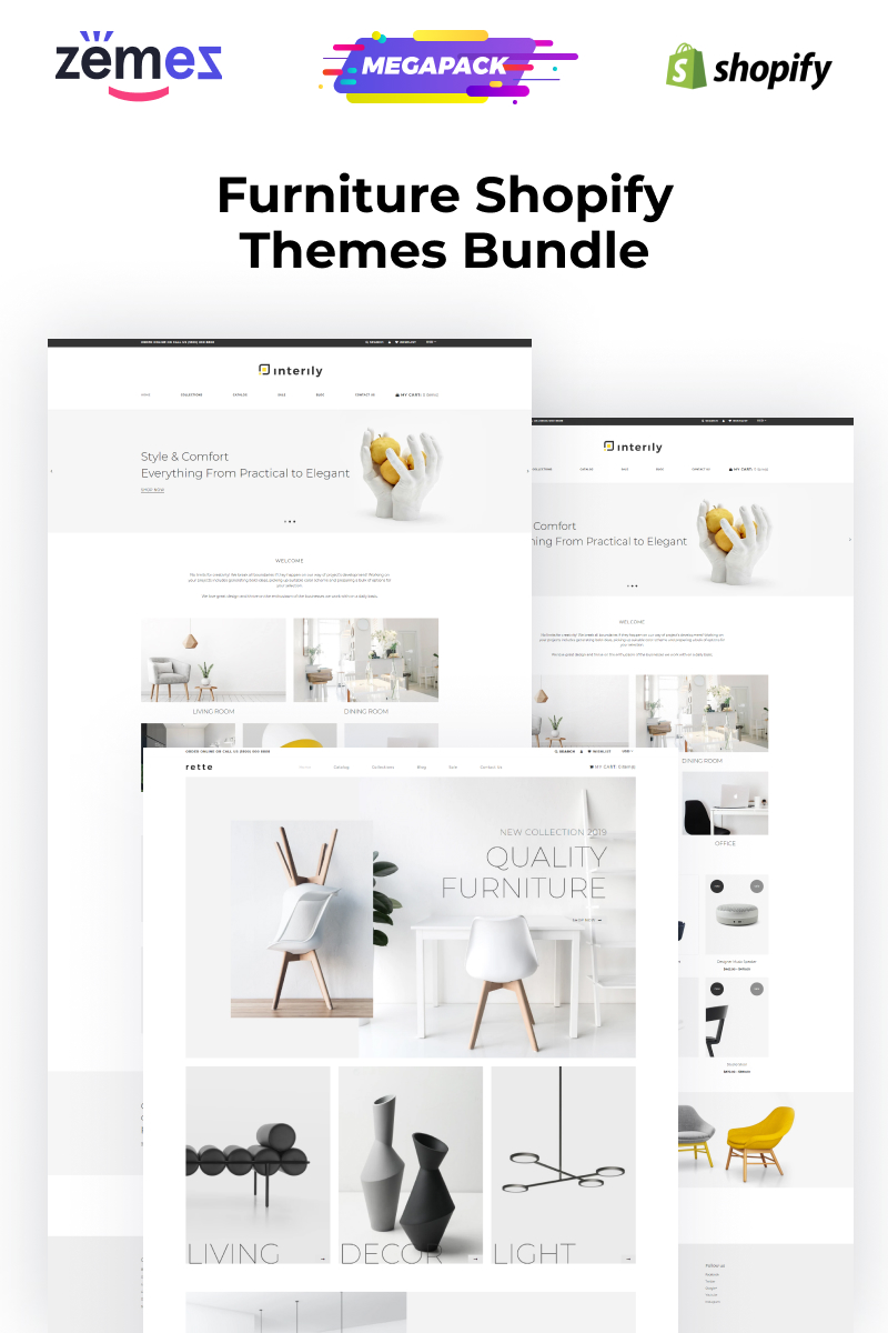 """Shopify Themes for Furniture Websites"" BootstrapShopify模板 #95744"