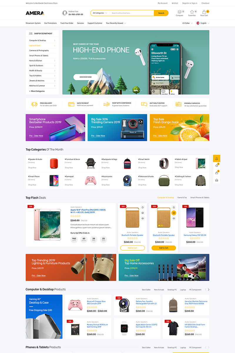 Amera - Multipurpose Shopify Theme