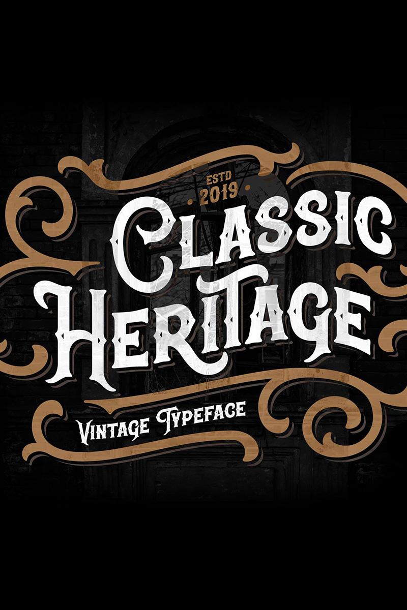 Classic Heritage typeface Font - screenshot